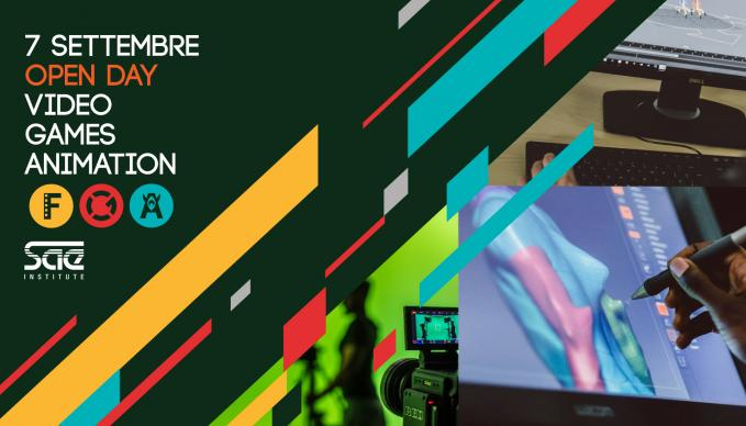 open day video games animation 7 settembre sae milano